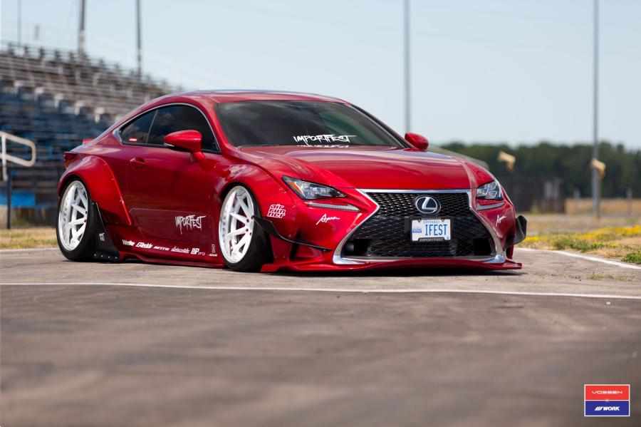 Lexus RC350 X Work on Vossen Wheels (VWS-1)